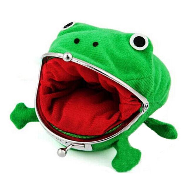 Uzumaki Naruto Frog Shape Cosplay Coin Purse Wallet Soft Furry Plush Gift GSE