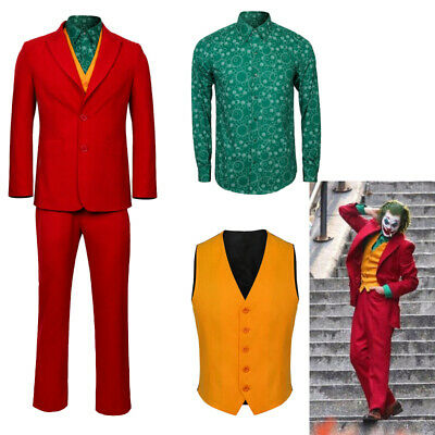 The Joker Origin Arthur Fleck Cosplay Costume Men S Adlut Halloween Outfit Ebay