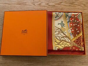 New-Hermes-Axis-Mundi-Christine-Henry-silk-scarf-with-box
