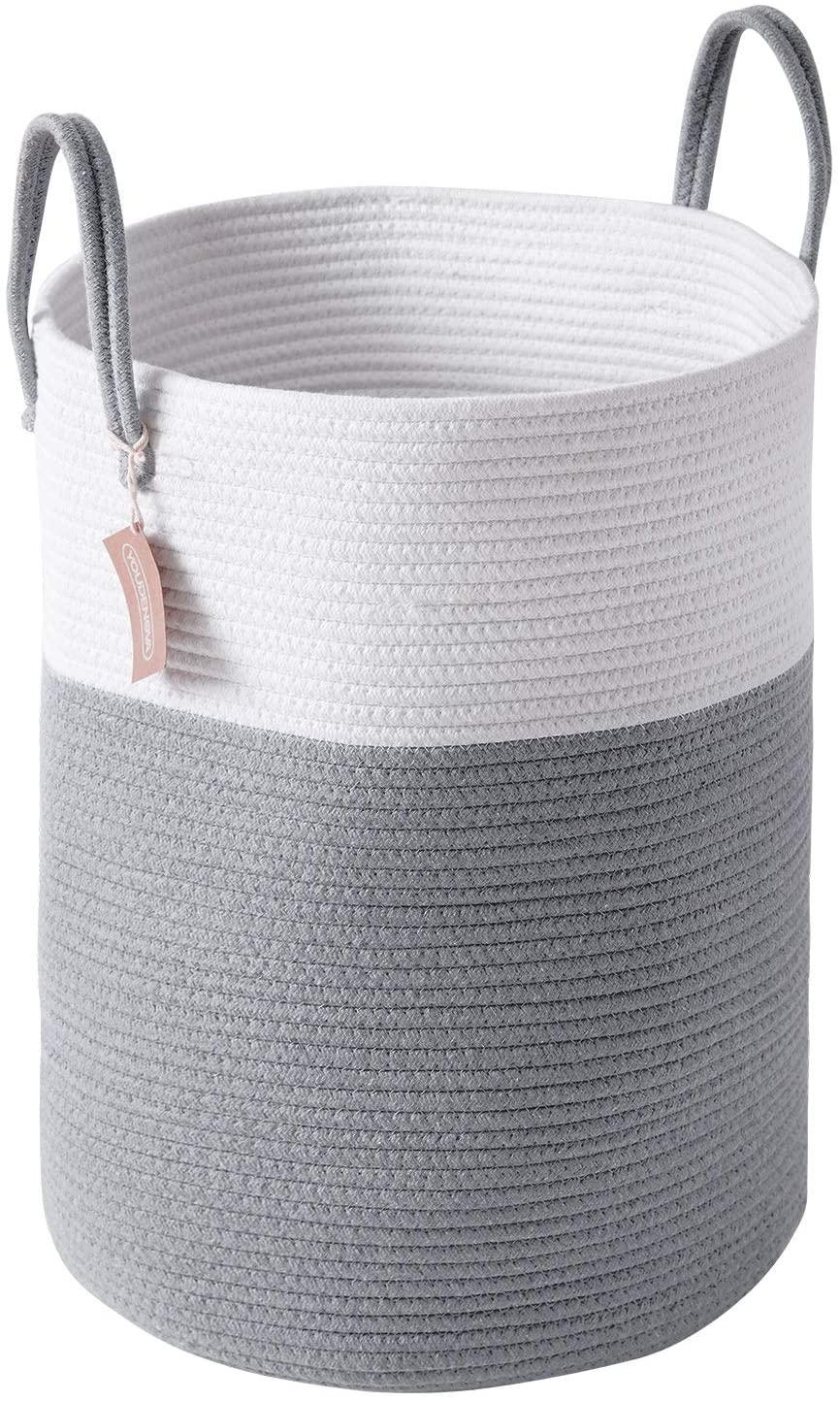 Youdenova 58l Large Woven Laundry Hamper Basket 15dx20h Tall Decorative Wicker For Sale Online Ebay
