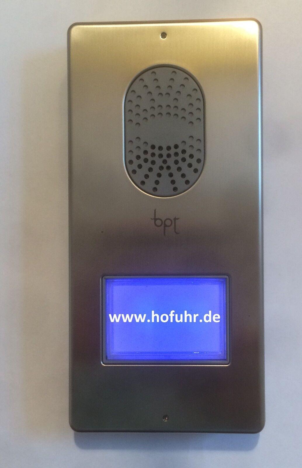 Bpt Wechselsprechanlage Einfamilienhaus LITHOS/AGATA Edelstahlfront, komplett