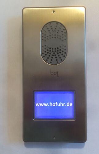 bpt Wechselsprechanlage Einfamilienhaus LITHOS//AGATA Edelstahlfront komplett