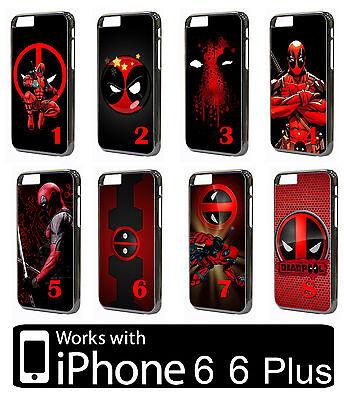 Deadpool iPhone 6 6s 7 Plus HARD PLASTIC Case Phone Super Hero Comic Cover