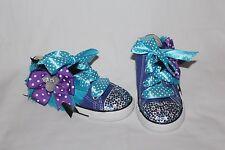 Converse bling rhinestone purple under sea Minnie 2 3 4 5 6 7 8 9 girl shoes NEW