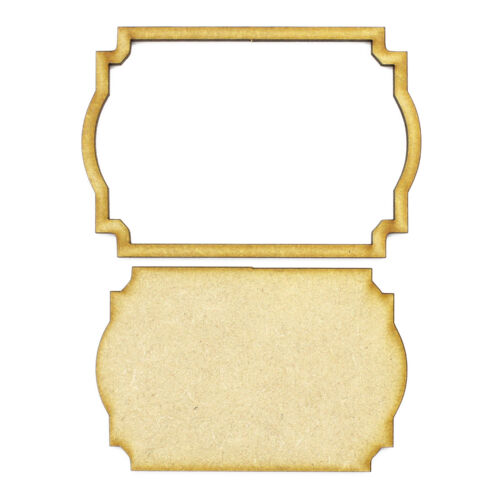 Frame and Panel 16 Wooden 3mm MDF Laser Cut Craft Blank Scrapbook Topper