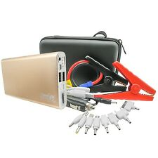 8800mAh Car Jump Starter Emergency Power Bank Battery Charger LED Torch Gold
