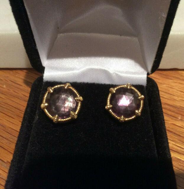 New Genuine Cultured Pearl 14kt Gold Stud Earrings 4mm NIB
