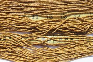 11-0-White-w-Travertine-Czech-Glass-Seed-Beads-Crafts-Jewelry-hank