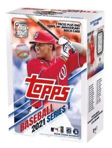 2021 Topps Baseball Series 1 Blaster Box (7 Packs + 70th Anniversary) New Sealed