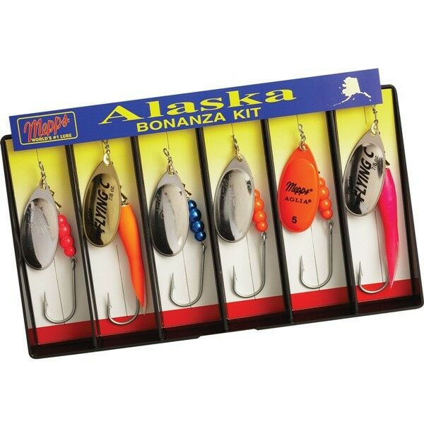 Mepps Alaska Bonanza Kit - Plain Single Hook Lure  Assortment  (K7)  exclusive