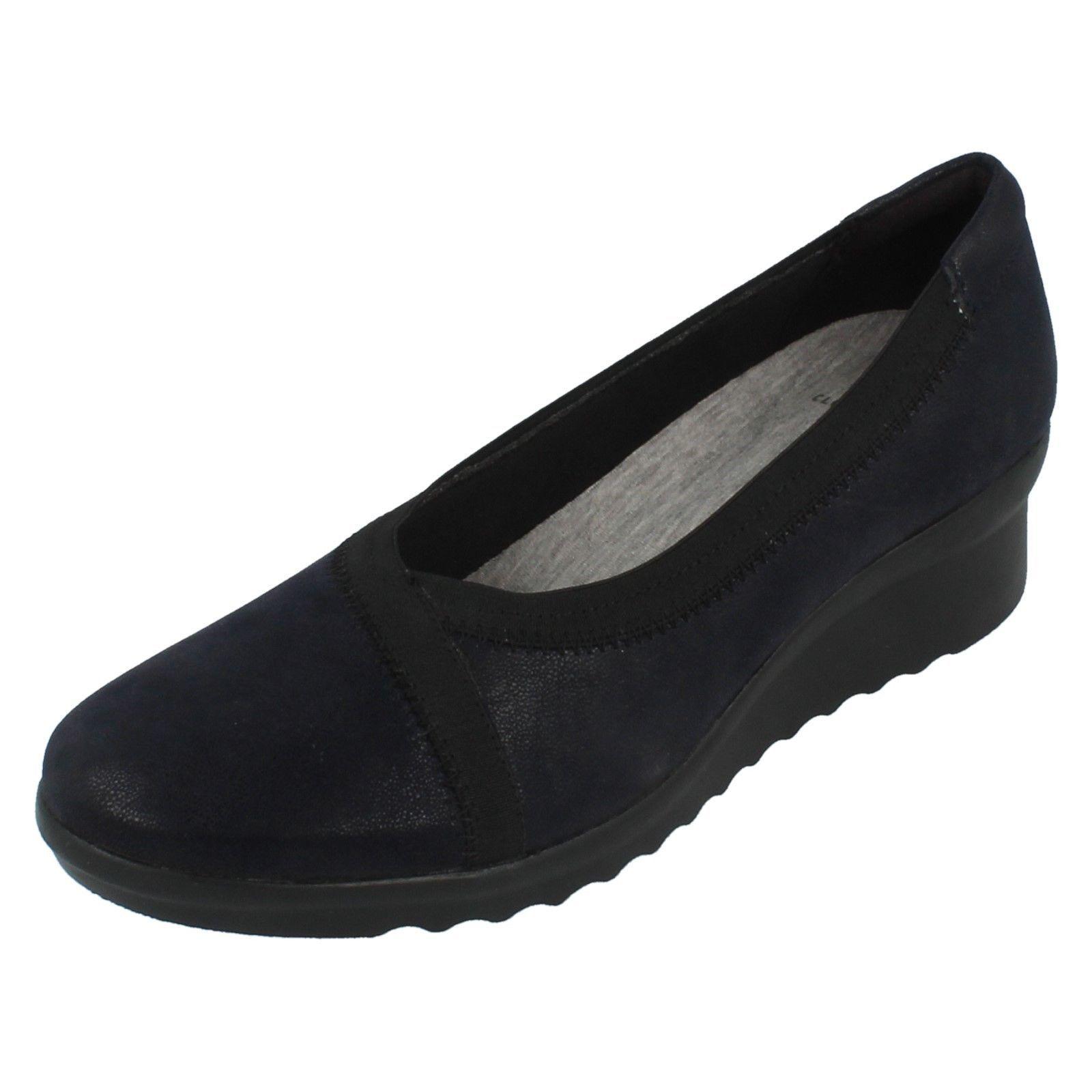 Damen Clarks Schuhe Cloudsteppers ohne Bügel Keilabsatz Schuhe Clarks Caddell Sprint e6294f