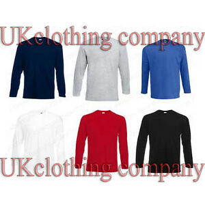 Fruit-of-the-Loom-Long-Sleeve-Valueweight-Adult-Cotton-t-shirt-mens