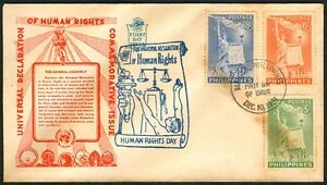 Philippine-1951-Universal-Declaration-of-Human-Rights-FDC-C