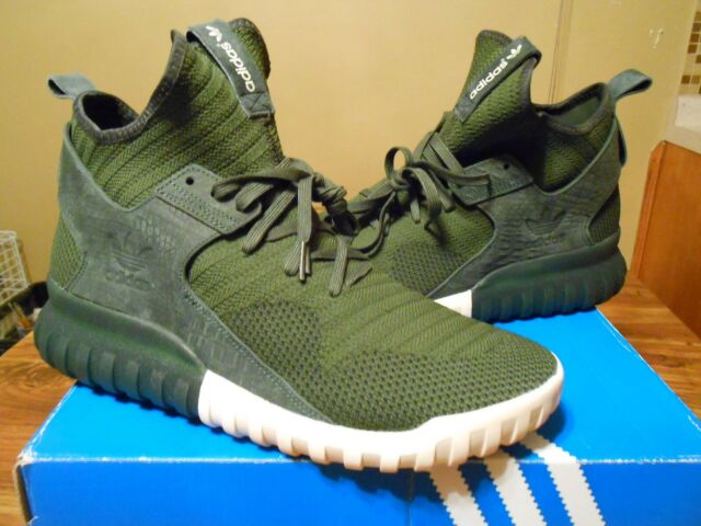 4366a12ab1c3a NEW Adidas Tubular X PK Primeknit 10.5 S74932 Green Originals Mens Sneakers  shoe