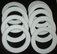 9 Pc Styrofoam Eps Polystyrene Wreaths 14 X 2 White Craft Wedding Floral Ring