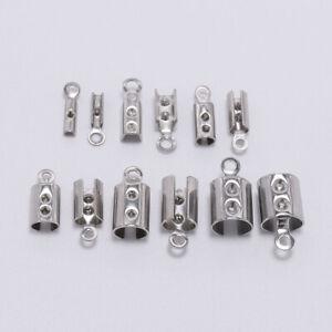 50pcs-Stainless-Steel-Cords-Crimp-End-Beads-Caps-DIY-Bracelet-Jewelry-Connectors