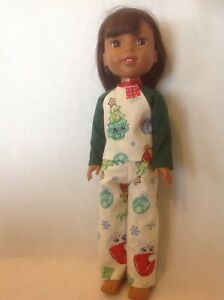 """Fits 14.5/"""" American Wellie Wishers Doll Girl CLothes Pajamas Pants Floral NEW"""