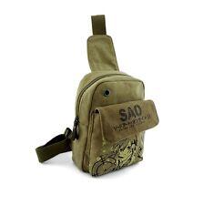 Anime Gun Gale Online GGO SAO Sinon Mens Crossbody School Bag Rucksack Backpack