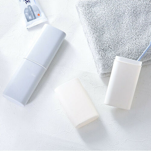 Portable Travel Toothbrush Holder Caps Case Toothpaste Household Storage Cup New