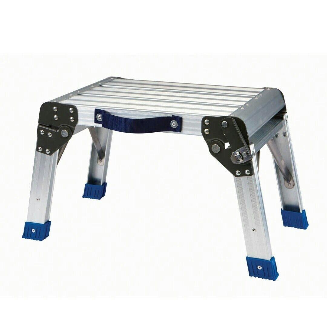 New Aluminum Folding 350lb Capacity Home Office Shop Step Stool Work Platform