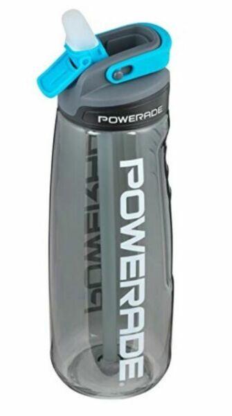 NEW Powerade Sip Water Bottle Charcoal 28oz Autospout Straw BPA Free