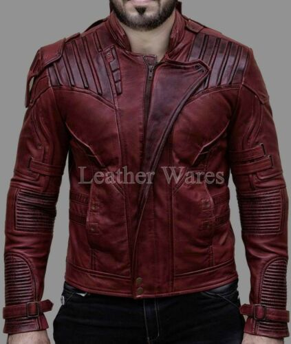 Guardians of the Galaxy 2 Star Lord Chris Pratt Maroon Synthetic Leather Jacket