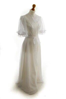 Aus Dem Ausland Importiert Vintage Orig 60s 70er Boho Hippie Brautkleid Weiß Lang Chiffon Hochzeit Kleid Xs Einen Effekt In Richtung Klare Sicht Erzeugen