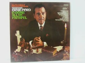 O Come All Ye Faithful by Tennessee Ernie Ford Vinyl LP Record Capitol Records S