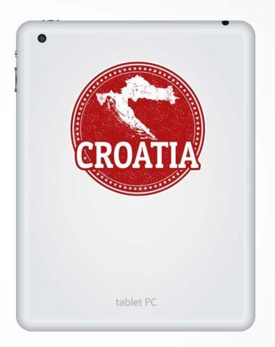 2 X Croacia pegatina de vinilo calcomanía portátil coche Bandera Regalo Equipaje De Viaje Mapa # 9228