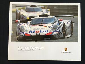 PORSCHE-OFFICIAL-993-911-GT1-RACECAR-SURVIVING-LE-MANS-POSTER-1998
