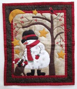 Frosty Amp Friend Applique Quilt Pattern Snowman