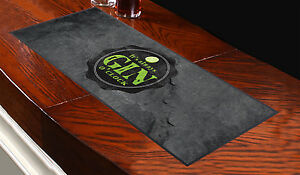 It's Aways Gin O'clock Slate Design Bar Runner Cocktail Party Pub Club Gift
