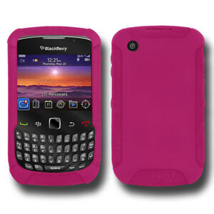 NEW-AMZER-HOT-PINK-SILICONE-SKIN-JELLY-CASE-FOR-BLACKBERRY-CURVE-3G-9300-8530