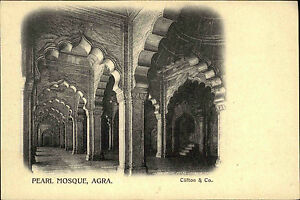 INDIEN-Pc-India-um-1900-AGRA-Pearl-Mosque-Moschee-AK-Vintage-Postcard-Asia