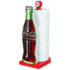Coca Cola: Classic Bottle Shaped Wooden Paper Towel Stand - New Official In Box