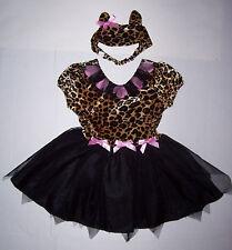 CHILDREN'S PLACE LEOPARD KITTY PRINCESS COSTUME XS 4 TCP CAT HALLOWEEN DRESS