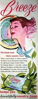 1955 'BREEZE' Soap ADVERT - Vintage Original Print AD