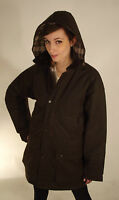 Wax Jacket Brown British Classic Waxed Cotton Padded Winter Ladies