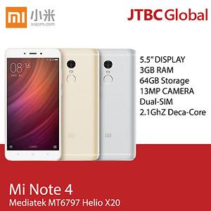 New Xiaomi Redmi Note 4 5.5 inch 4G 64GB 2.1Ghz Deca Core Factory Unlocked Phone
