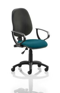 Eclipse I Lever Task Operator Chair Back Bespoke Seat With Loop Arms In Kingfish