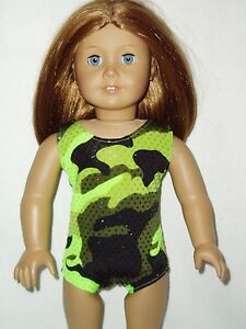 Camouflage-Leotard-Fits-American-girl-dolls-18-inch-Doll-Clothes-Swimsuit-Green