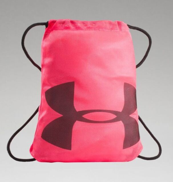 3698582bcb00 Under Armour Mesh Sackpack Unisex Gym Backbag Bag Pink NET Neo Pulse OSFA