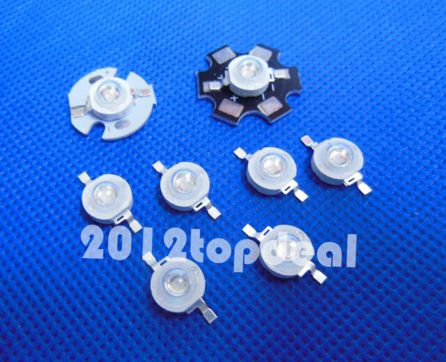 5 10 20 50 pcs 1W 3W High Power 7Type UV ultraviolet 365-405nm LED Lamp Light