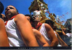 CARTOLINA-SICILIA-POSTCARD-SICILY-PALAZZOLO-ACREIDE-FESTA-DI-SAN-SEBASTIANO
