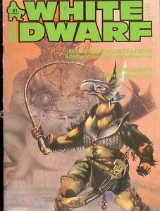 Magasiner Pour Pas Cher Gw White Dwarf Vo 61 January 1985 Aussi Efficacement Qu'Une FéE