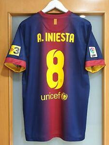 Camiseta-FC-Barcelona-2012-13-INIESTS-8-L-Shirt-football-EXCELENT-ORIGINAL