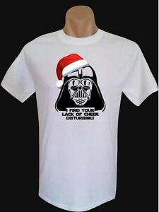 Merry-Christmas-Darth-Vader-Star-Wars-Fun-on-Quality-Gildan-Mens-Cotton-T-Shirt