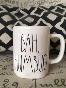 NEW-RAE-DUNN-by-Magenta-BAH-HUMBUG-Coffee-Tea-Mug-Farmhouse-Christmas-Decor