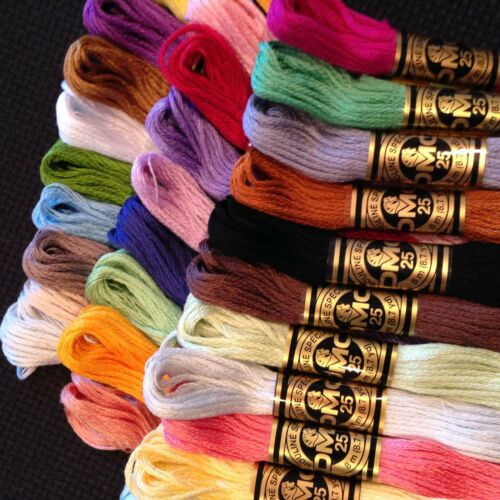 1-15 DMC THREADS CROSS STITCH  SKEINS PICK YOUR OWN COLOURS LOT #1#