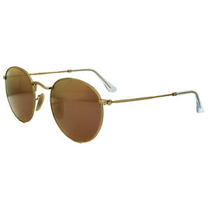 6d08390043e8ab Ray-Ban Sunglasses Round Metal 3447 112 Z2 Gold Copper Flash Mirror ...